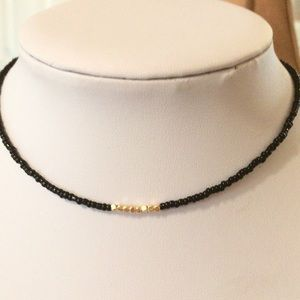 Jewelry - Black, gold choker necklace